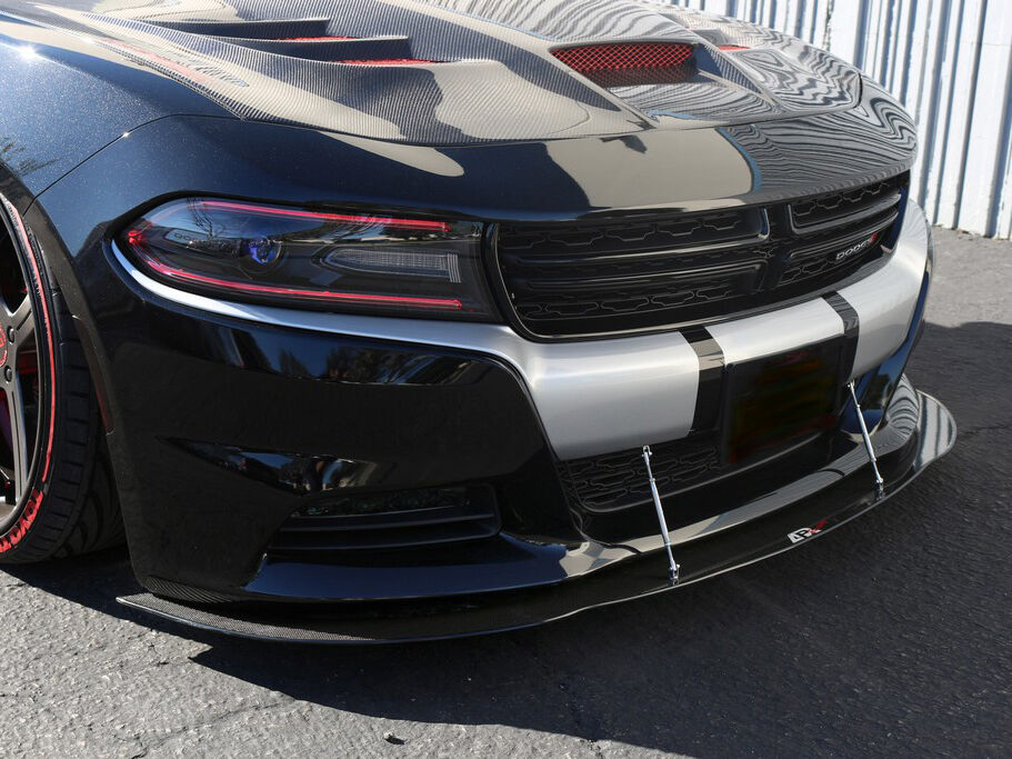 2015 2016 2017 dodge charger rt sxt se carbon fiber splitter w rods ebay. Black Bedroom Furniture Sets. Home Design Ideas