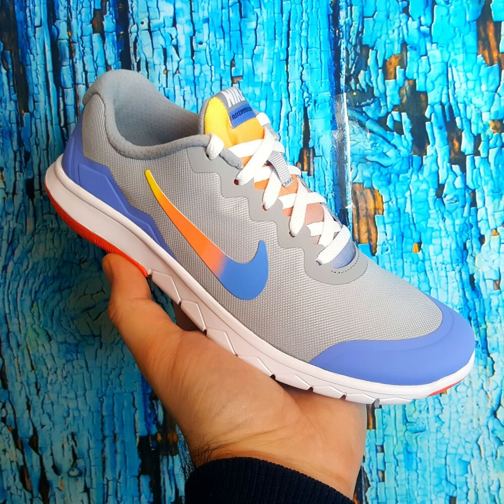quality design 876da 82b8d Details about Nike FLEX EXPERIENCE 4 PRINT GS Wolf Grey Girls Youth Shoes  Size 5.5