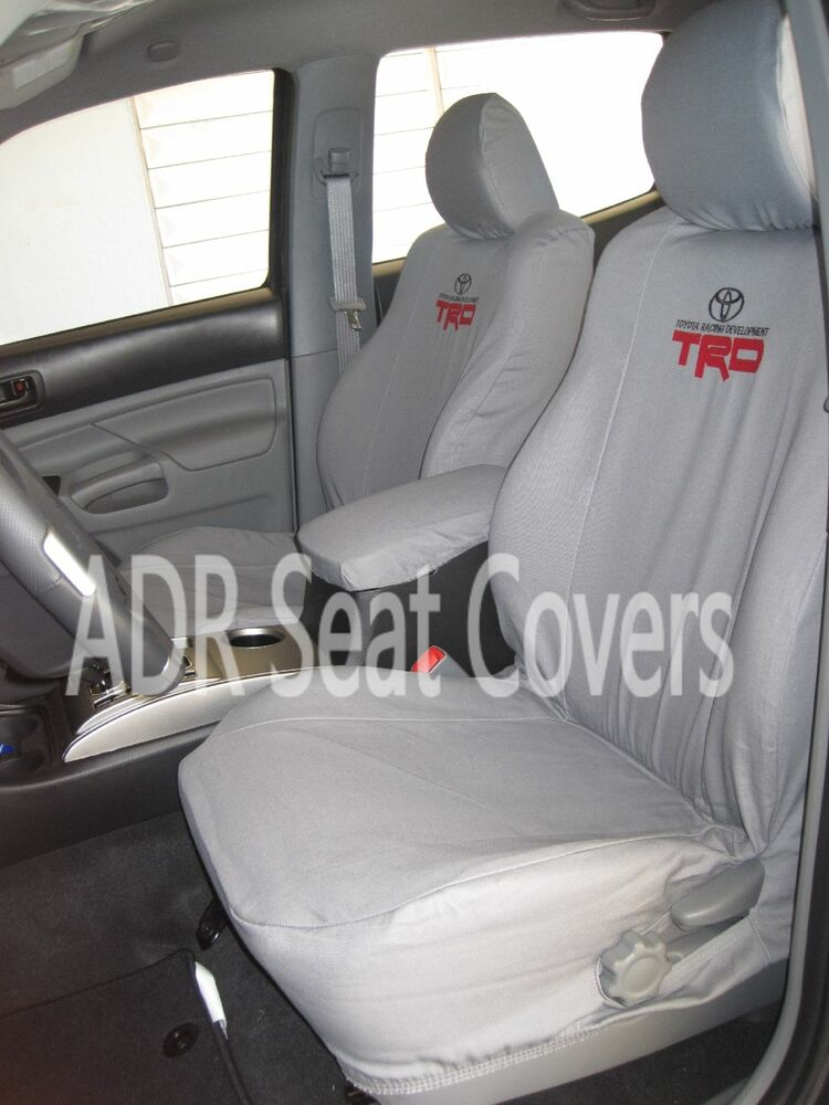 toyota tacoma 2001 2017 custom fit seat covers full set front rear seats ebay. Black Bedroom Furniture Sets. Home Design Ideas