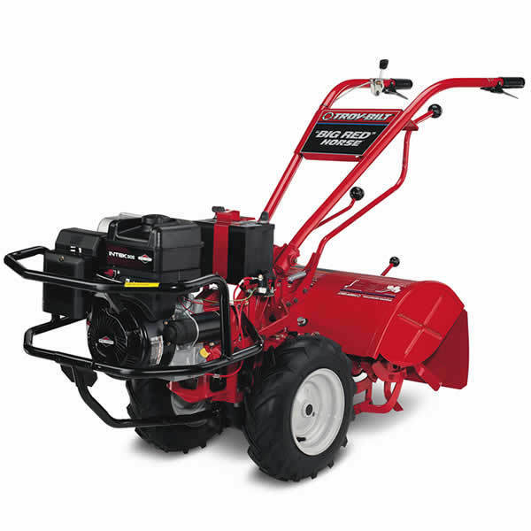 how to use a rear tine tiller