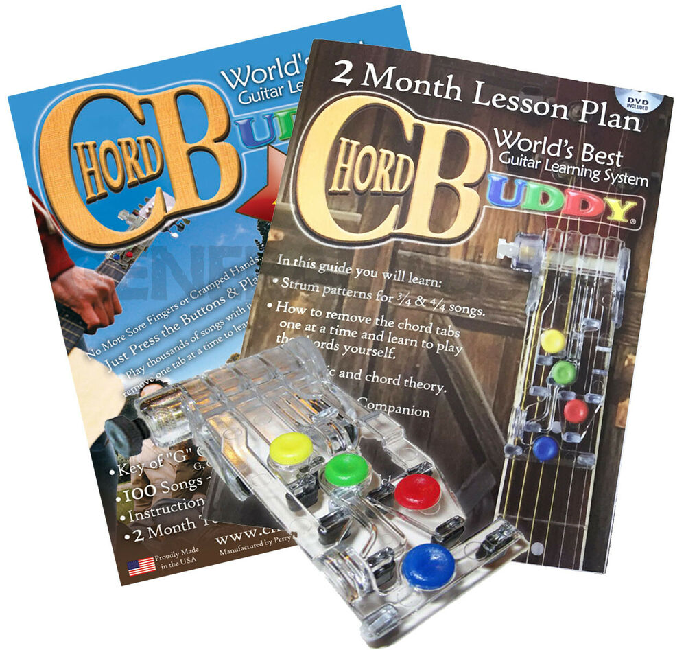 chord buddy guitar learning system teaching practrice aid chordbuddy lessons ebay. Black Bedroom Furniture Sets. Home Design Ideas
