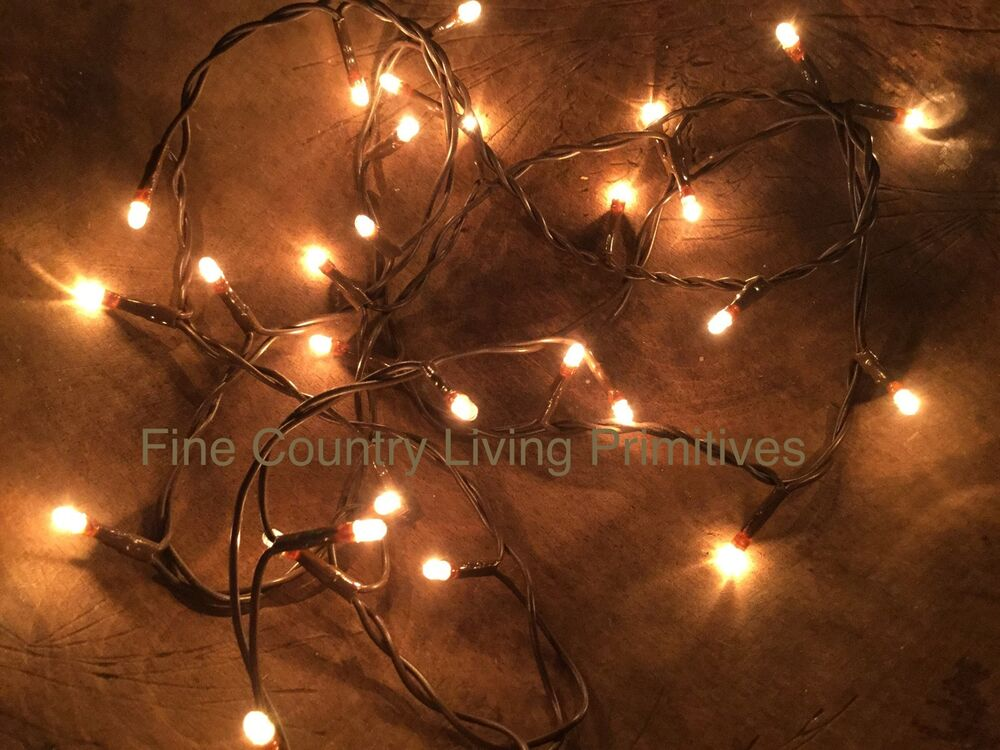 Christmas Lights With Brown Cord