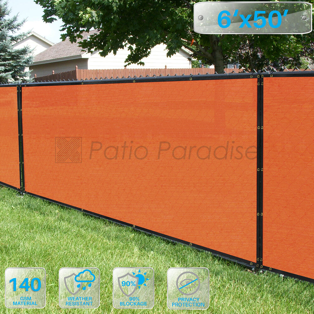 6 39 x50 39 or 8 39 x50 39 orange privacy wind screen mesh fence for Garden screening fabric