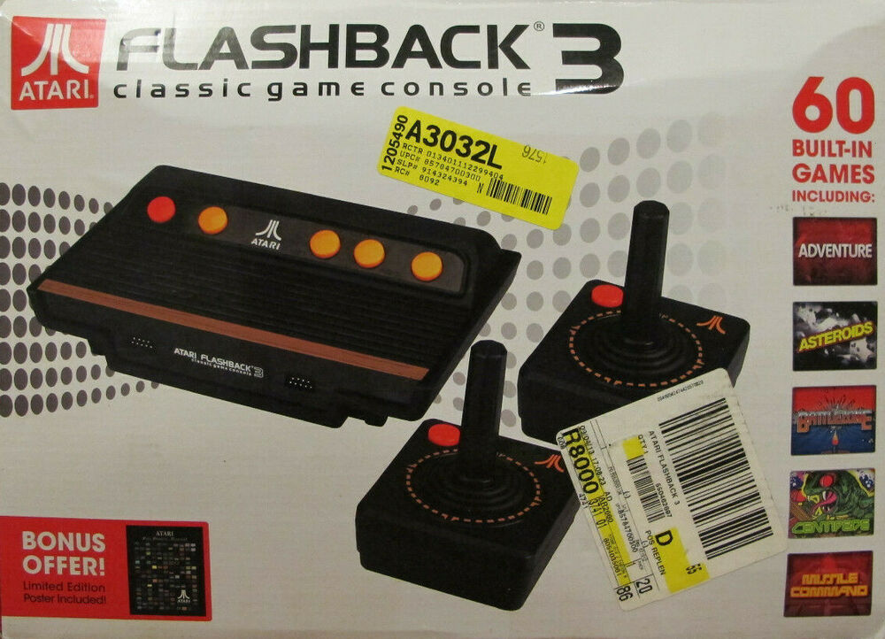 Atari console flashback 3 classic console with 2 - Atari flashback classic game console game list ...