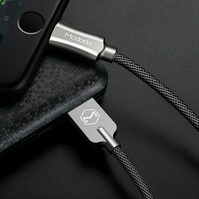 iphone usb cable mcdodo lightning braided sync charge usb data cable 12423