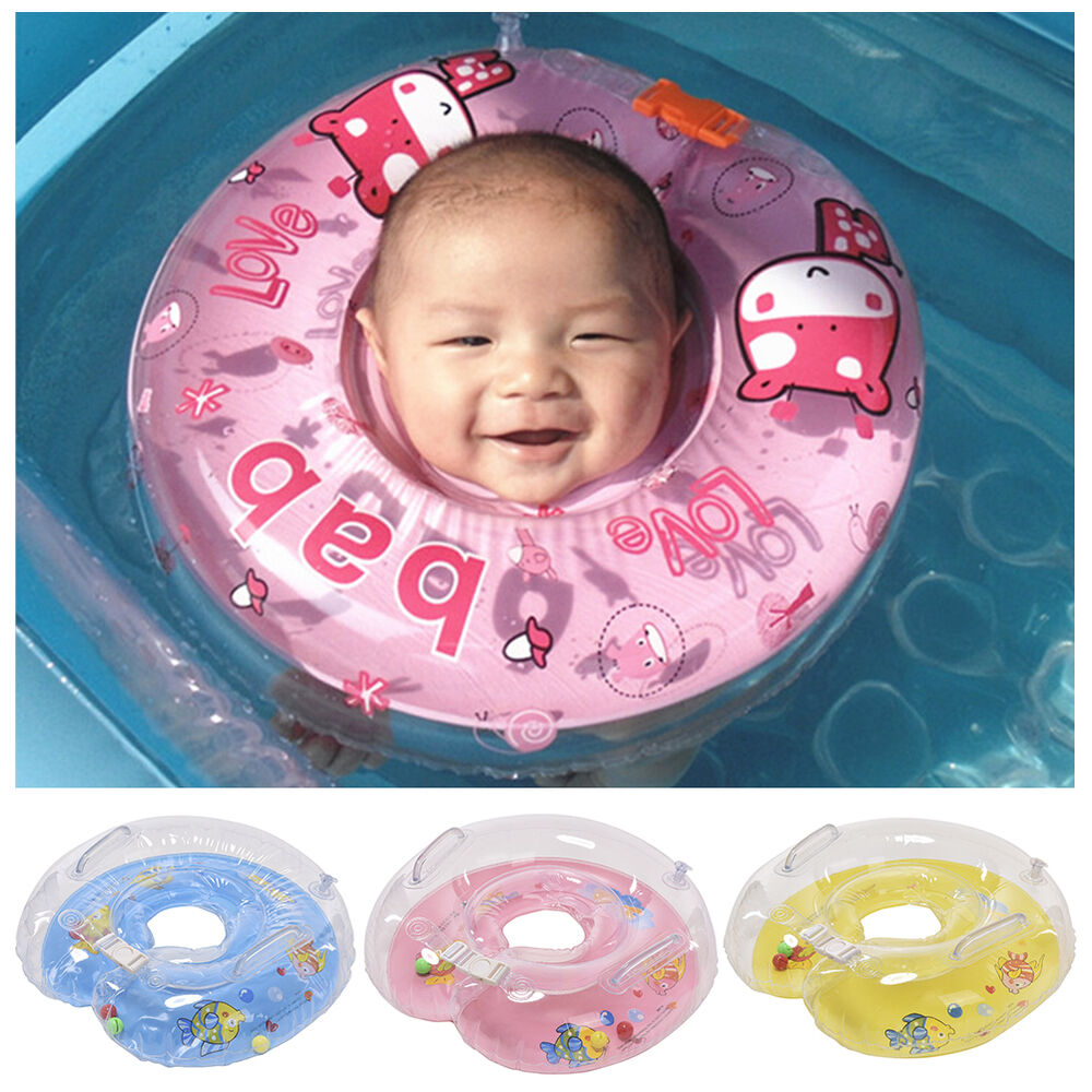 Cute Baby Kids Child Infant Swimming Neck Float Inflatable