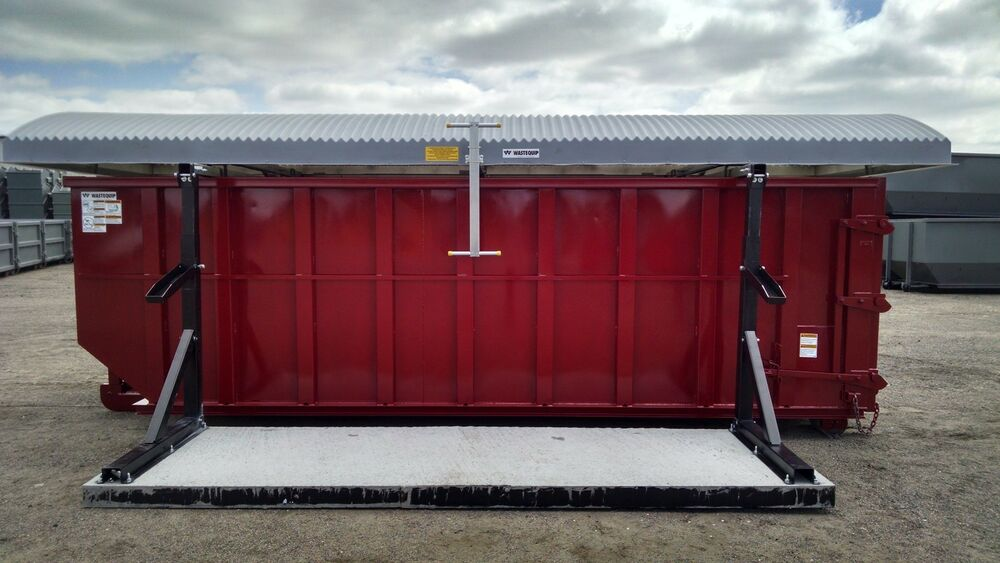 Storm Top Roll Off Container Cover Stand Alone Version