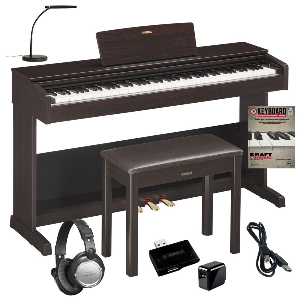 yamaha arius ydp 103 digital piano complete home bundle ebay. Black Bedroom Furniture Sets. Home Design Ideas