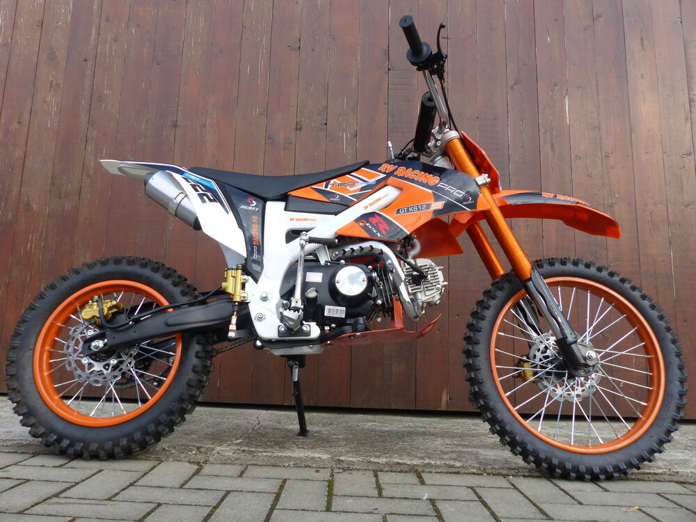 dirtbike pocketbike dirt pocket pit bike pitbike cross 125 ccm enduro 17 14 ebay. Black Bedroom Furniture Sets. Home Design Ideas