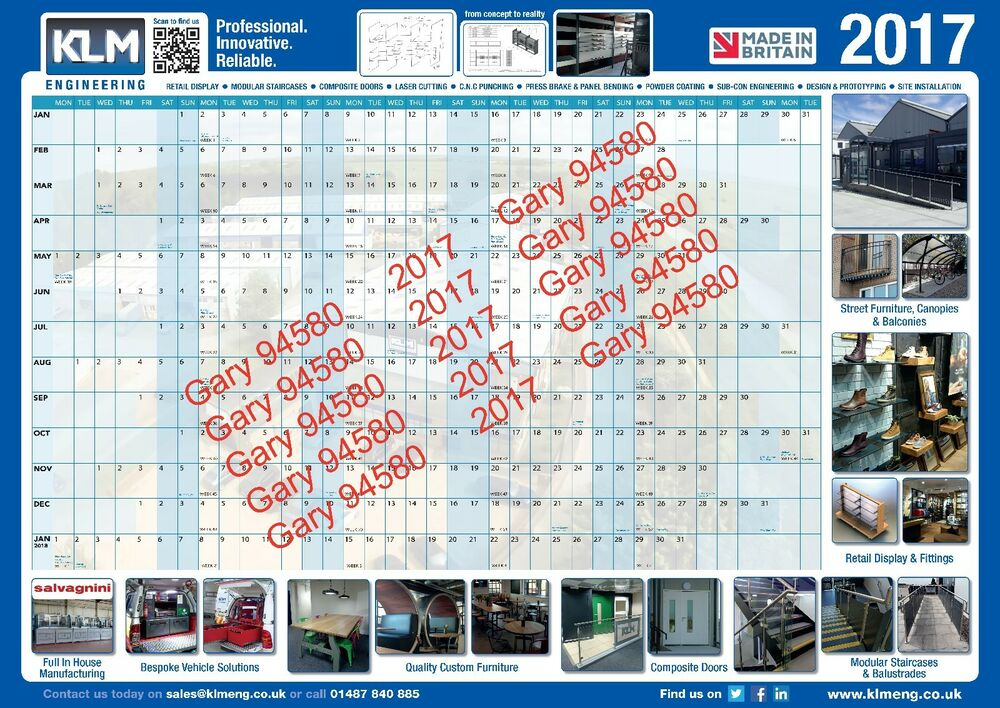 2017 Year Wall Planner Email E Planner For Work Home