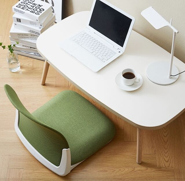 Low Chair Floor Seat Folding Japanese Style Cushion Back