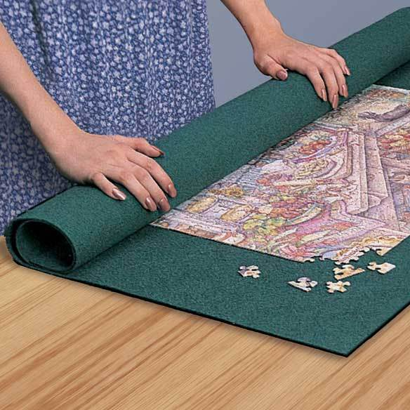 Throw Rugs Secure: Secure Roll Up Jig Saw Puzzle Mat Easy Storage Organizer