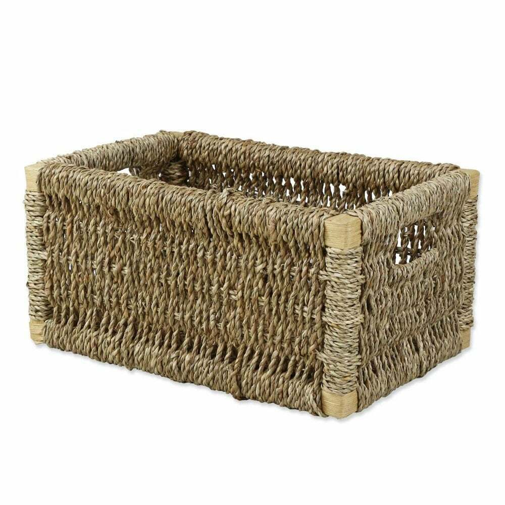 Seagrass Rectangular Storage Basket Solution Wicker Box