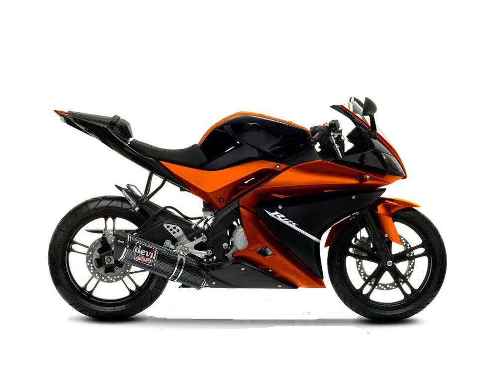 fairing kit for yamaha yzf r125 2008 2009 2010 2011 2012 2013 black orange ebay. Black Bedroom Furniture Sets. Home Design Ideas