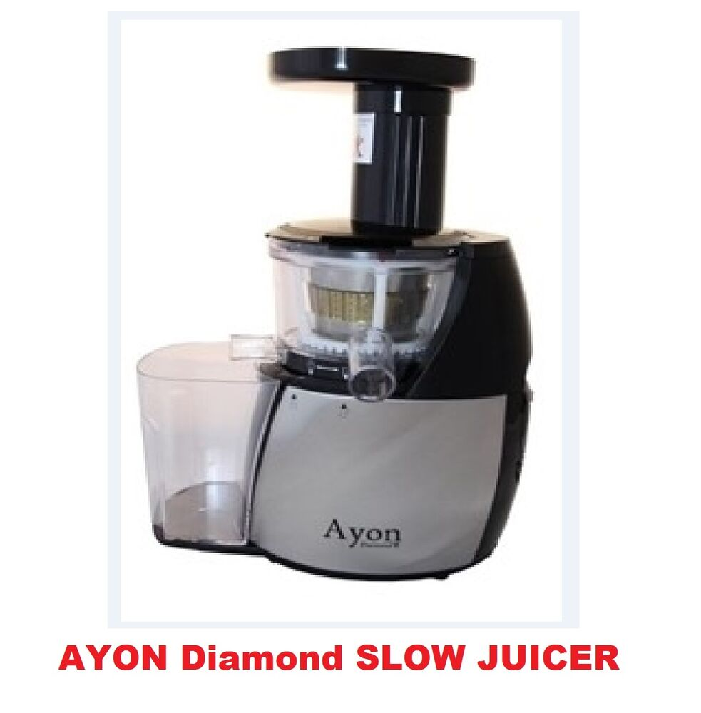 New Slow Juicer Signora : Brand New Ayon Diamond Cold Press Slow Juicer Processor Extractor eBay