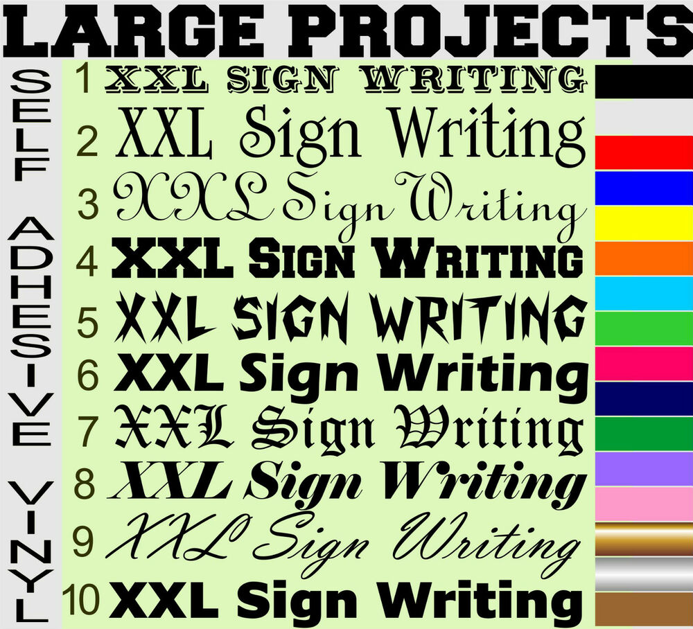 Xl Lettering Self Adhesive Sign Writing Stickers Letters
