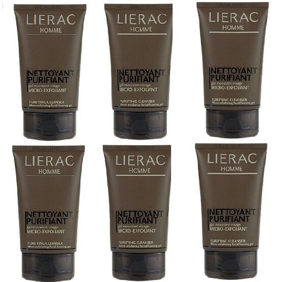 Lot Of 6 Lierac Homme Micro-exfoliant Purifying Cleanser 3.6 Oz Each