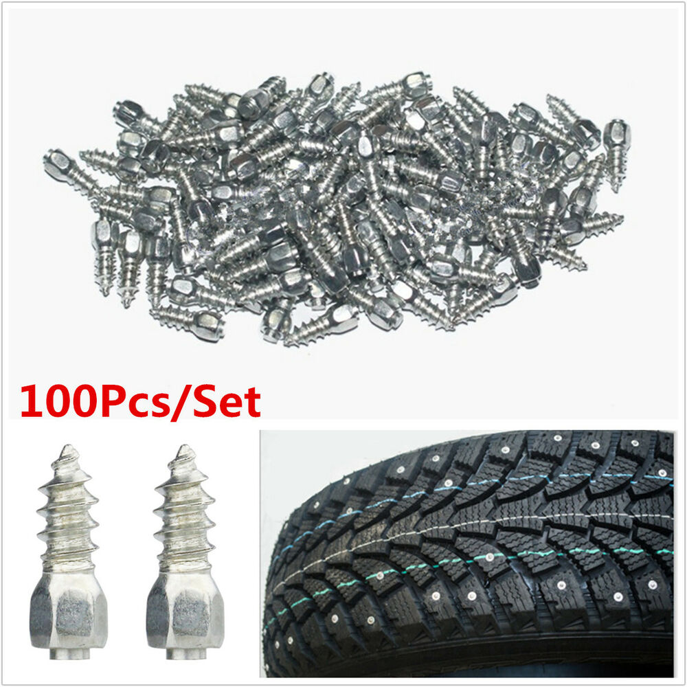 Lighting Basement Washroom Stairs: 100Pcs Screw In Tire Stud Snow Spikes Racing Track Tire