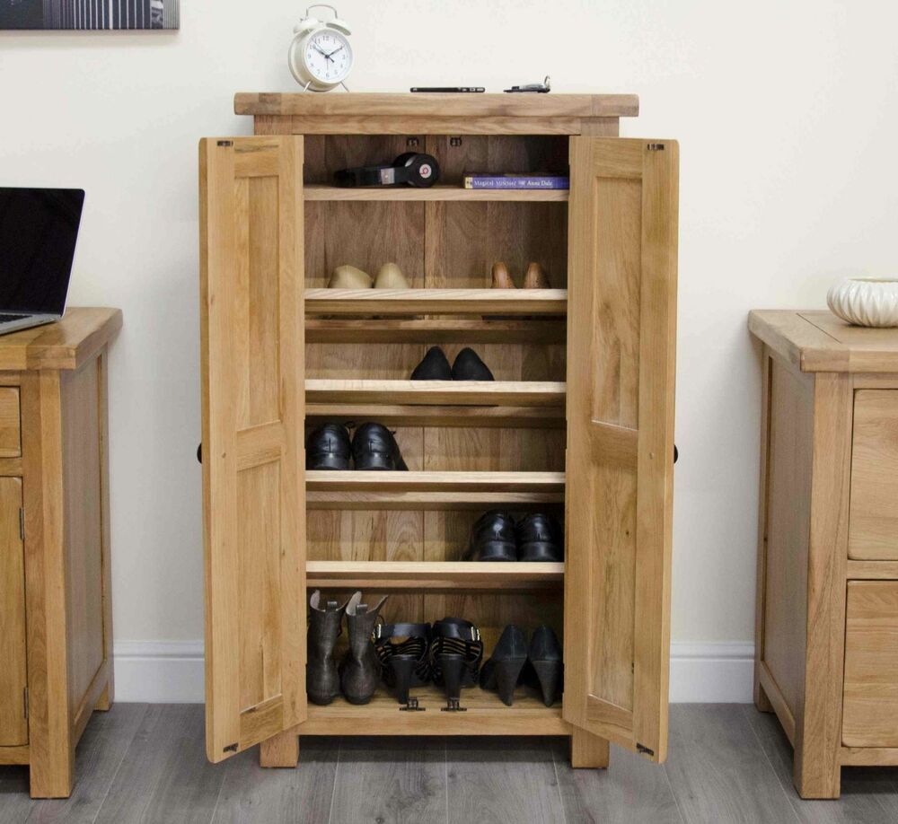 exciting hall cabinets furniture | Original rustic shoe storage cabinet cupboard unit solid ...