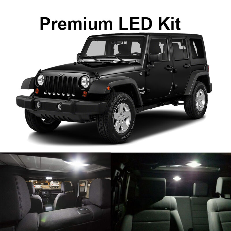 6 X White Led Interior Bulb License Plate Lights For 2007 2017 Jeep Wrangler Jk Ebay