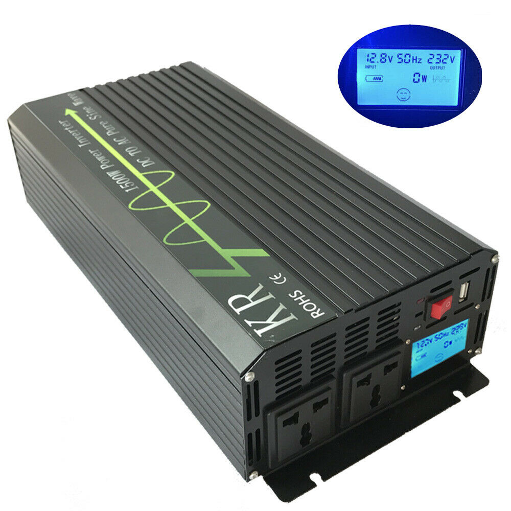 solar power inverter 1500w 12v to 230v 50hz off grid pure. Black Bedroom Furniture Sets. Home Design Ideas