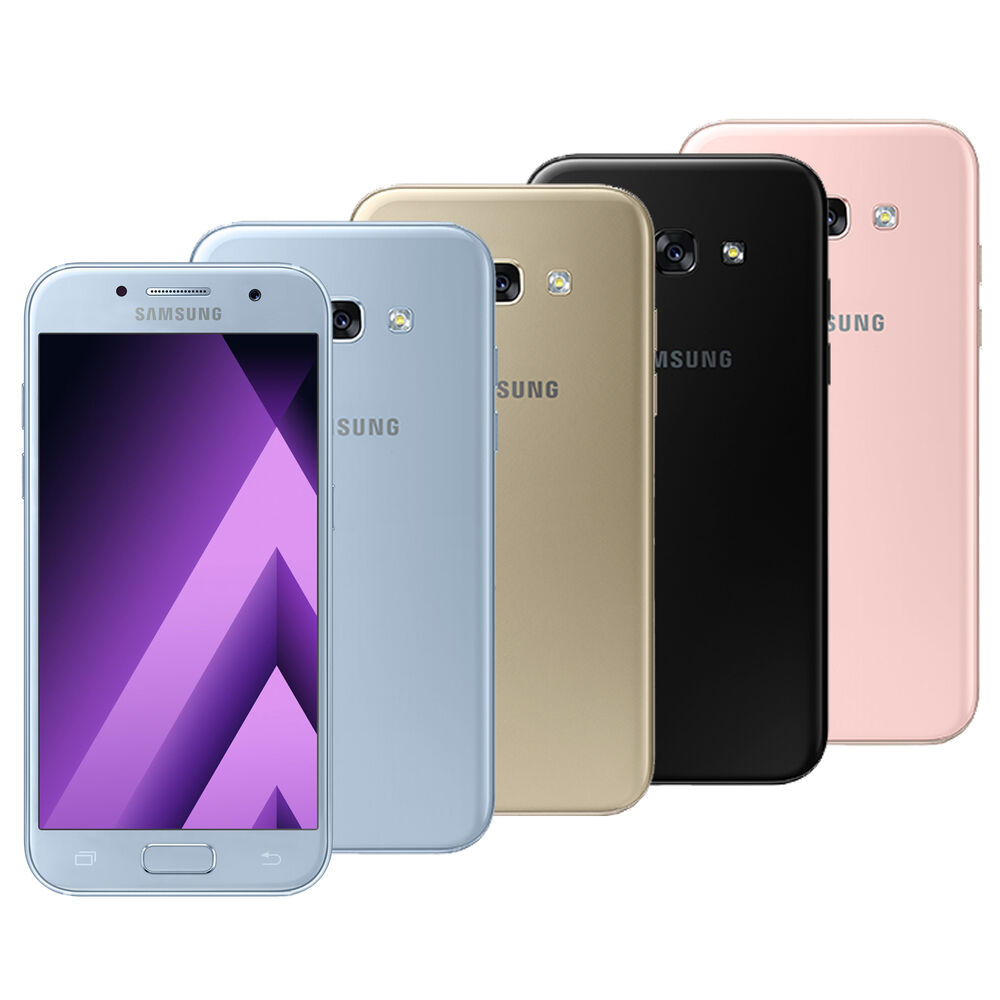 samsung galaxy a5 2017 sm a520f ds factory unlocked gold white black pink blue ebay. Black Bedroom Furniture Sets. Home Design Ideas