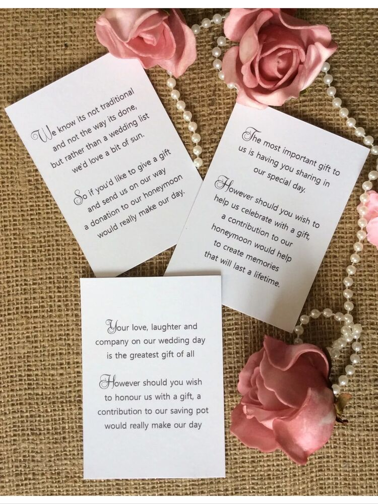 Money For Wedding Gift Uk : 25 /50 WEDDING GIFT MONEY POEM SMALL CARDS ASKING FOR MONEY CASH FOR ...