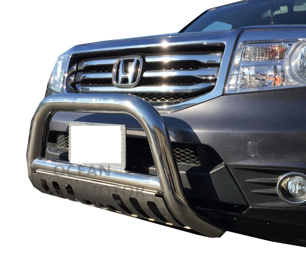 3 Quot Stainless Steel Bull Bar Grille Guard W Skid Plate For