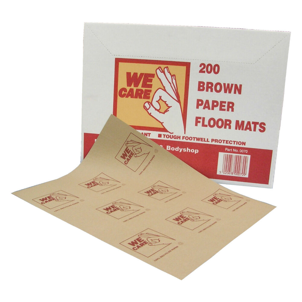 400 X Brown Recycled Paper Hard Wearing Disposable Car