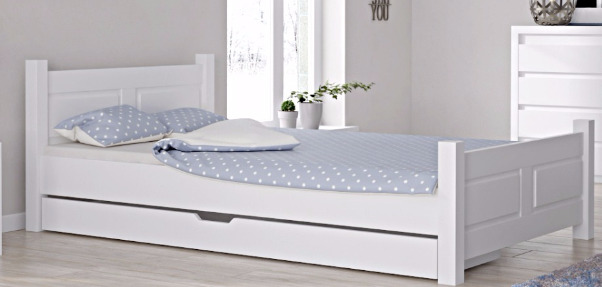 doppelbett bettgestell 120x200 wei bettkasten schublade weiss jugendbett senior ebay. Black Bedroom Furniture Sets. Home Design Ideas