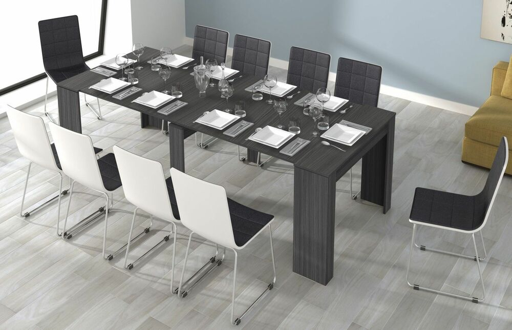 lucia grey ash 5 in 1 function extending console dining. Black Bedroom Furniture Sets. Home Design Ideas
