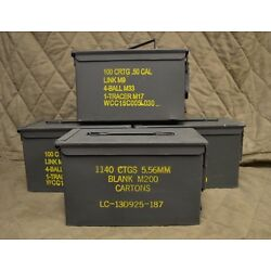Kyпить 4 PACK 50 Cal M2A1 AMMO CAN COMPLETELY REFURBISHED GREAT CONDITION FREE SHIPPING на еВаy.соm