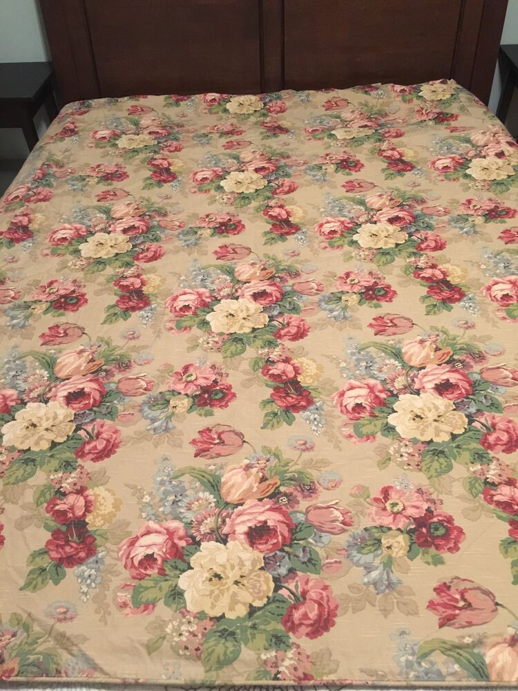 Ralph Lauren Blue Label Surrey Garden Floral Tan Duvet