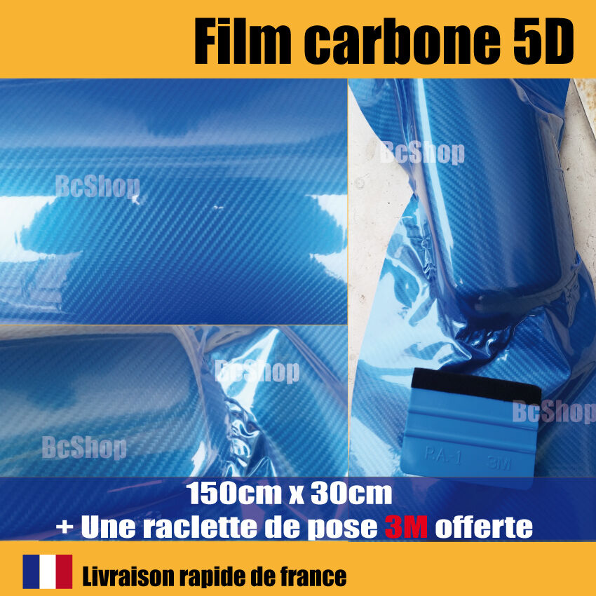 film carbone 5d bleu covering brillant thermoformable raclette de pose 3m pro ebay. Black Bedroom Furniture Sets. Home Design Ideas