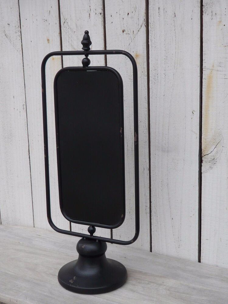 Industrial Country Metal Two Sided Chalkboard On Stand