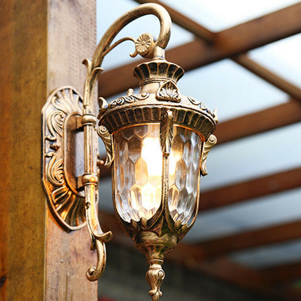 Outdoor Wall Lights Bar Glass Wall Sconce Garden Wall Lamp