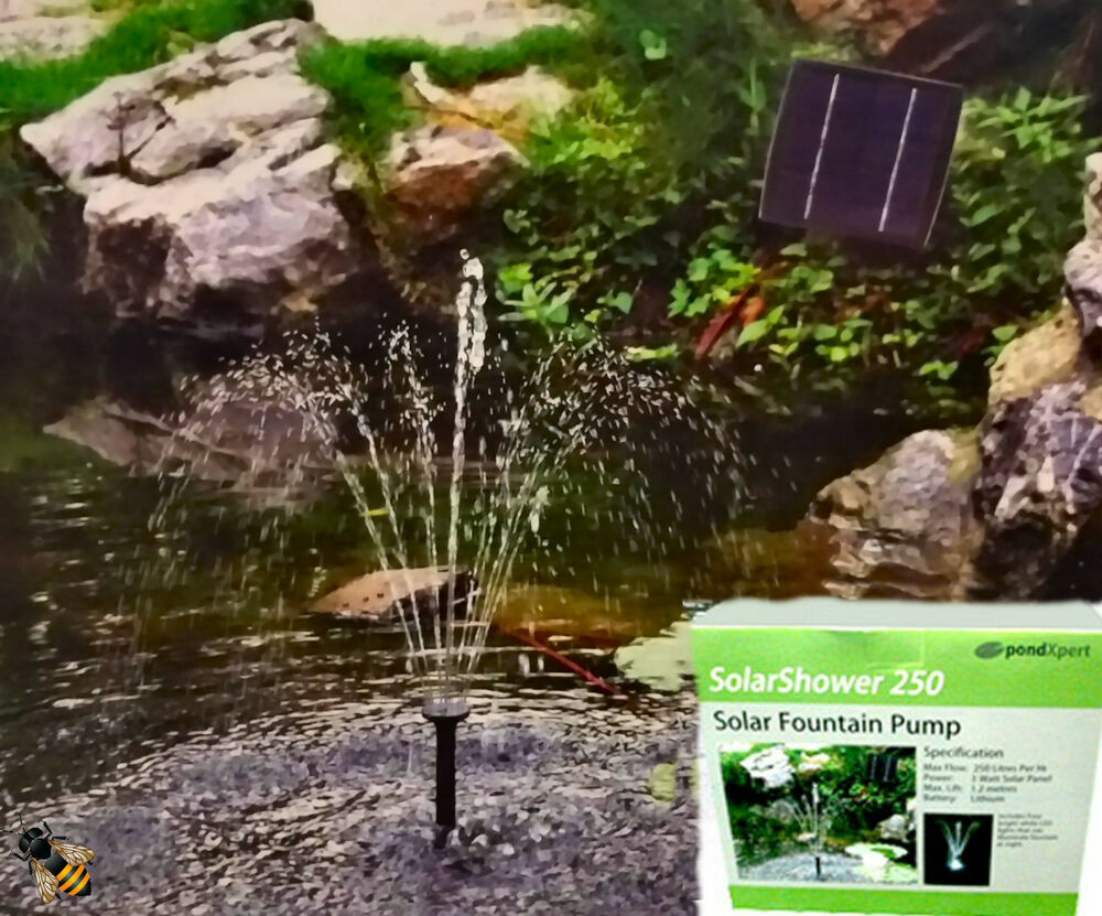 Solar Pump Fountain With Battery Backup Led Lights Pond
