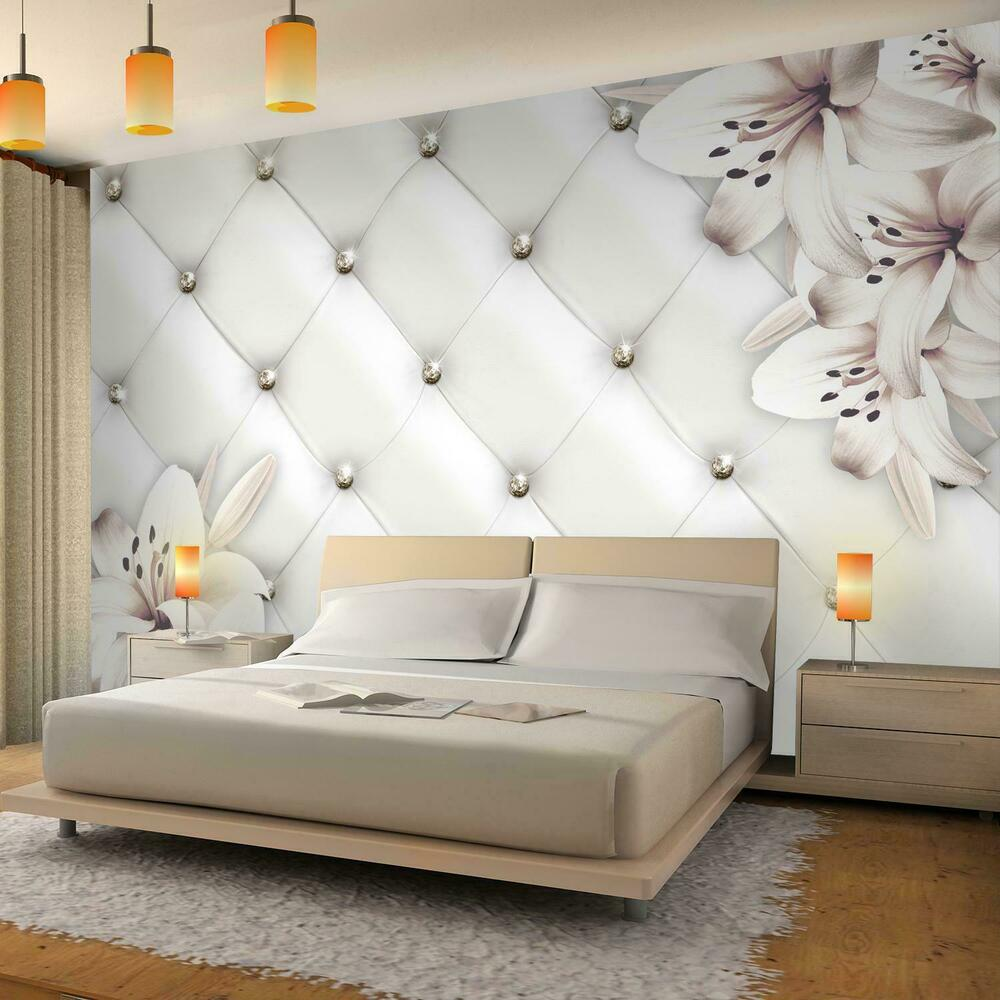 vlies fototapete leder wand blumen tapete wandbilder xxl wandtapete dekoration ebay. Black Bedroom Furniture Sets. Home Design Ideas