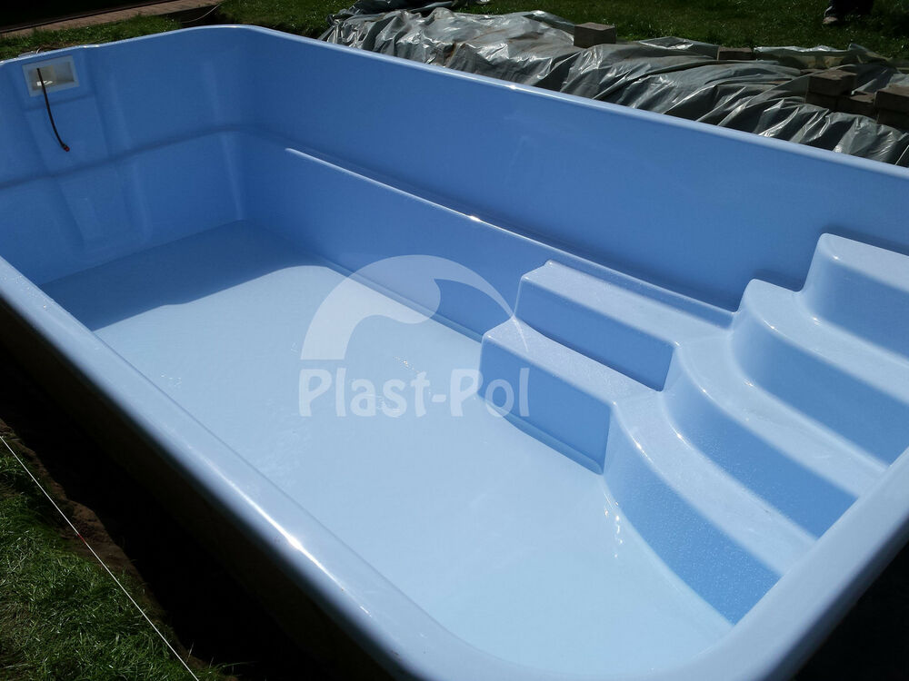 Eckig gfk schwimmbecken swimming pool 6 20x3 00x1 50 for Pool 4 eckig
