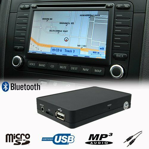 Bluetooth USB SD AUX CD Changer Adapter For Volkswagen