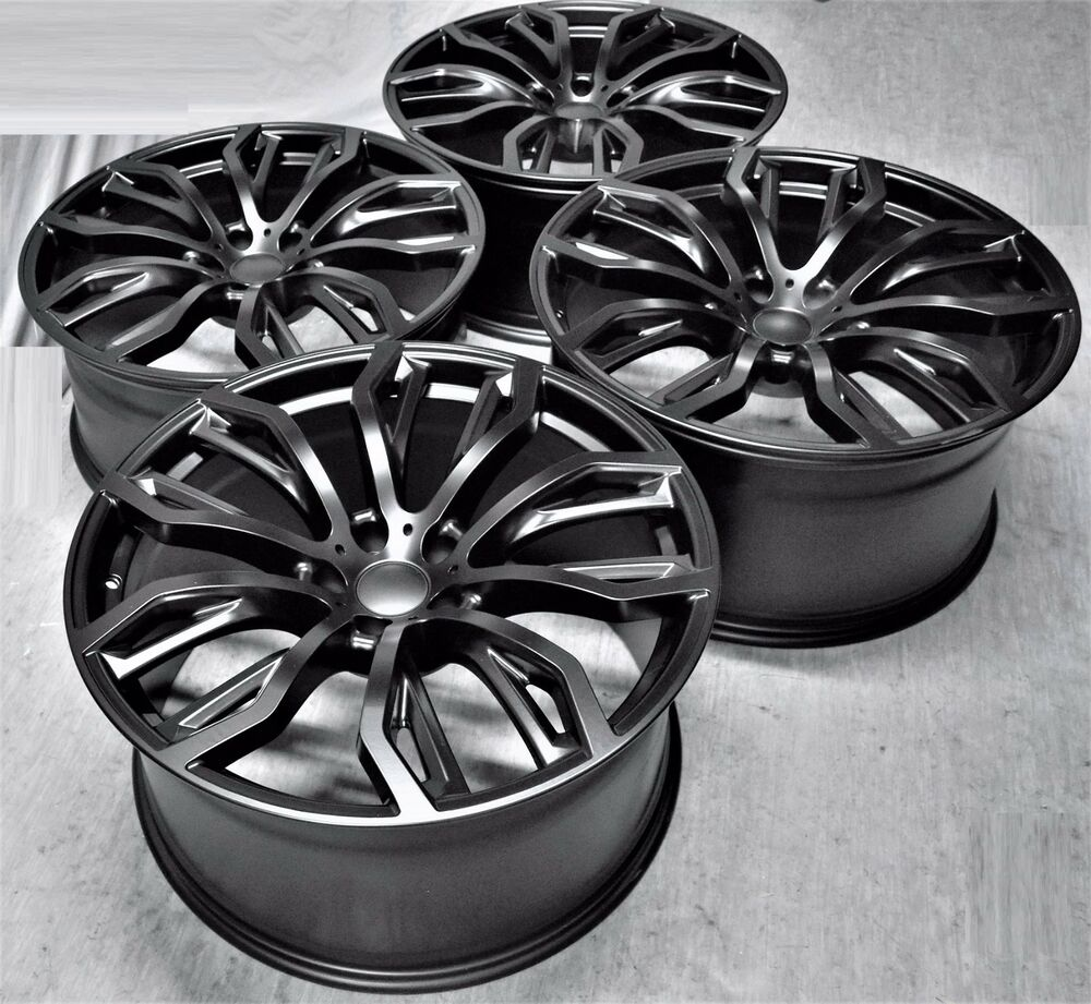 22 Quot New Bmw X6 M Style Black Staggered Wheels Rims Fit X5