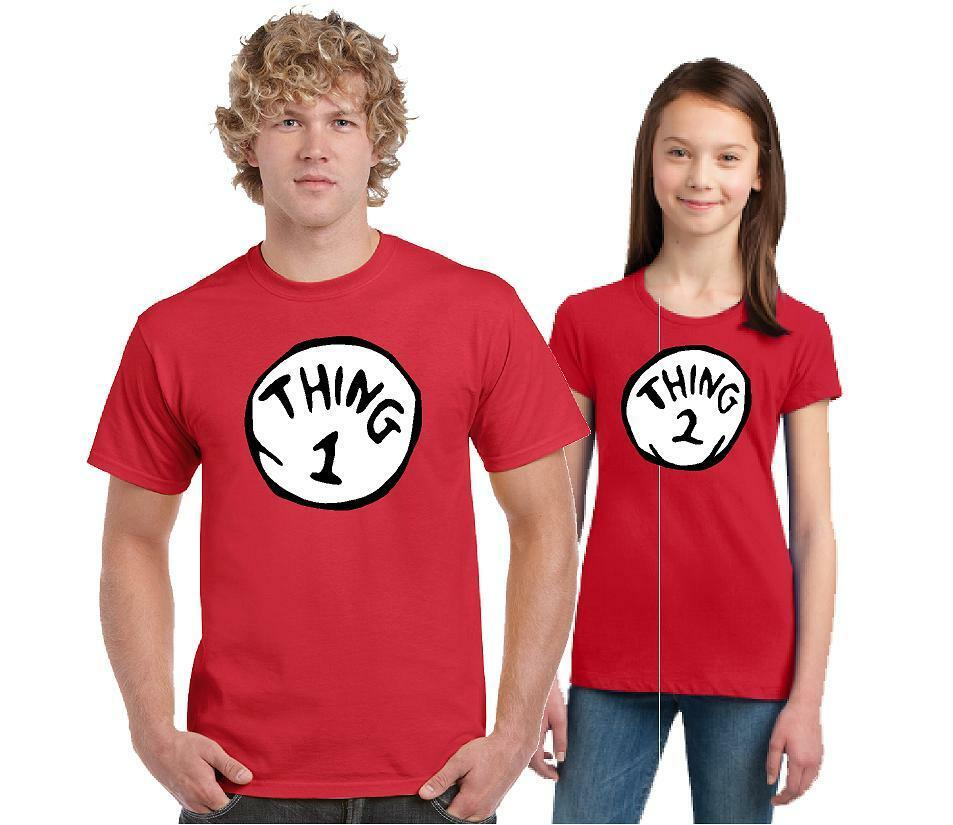 Thing 1 Thing 2 Dr Seuss T Shirt All Sizes Adult And Youth