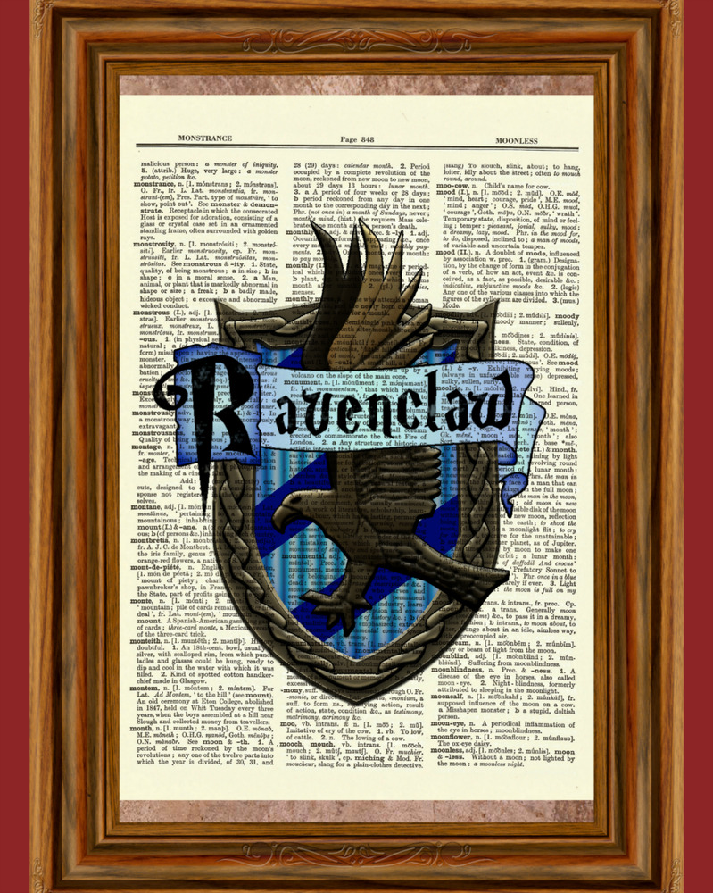 Smart image for ravenclaw crest printable