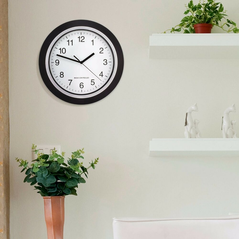 Wall Mount Clock Battery Operated Large 12 Quot Black White