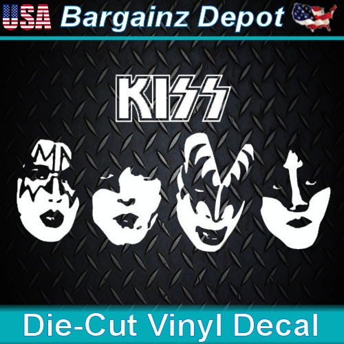 Kiss Band Faces: Vinyl Decal ... KISS .. Band Faces Car Laptop Sticker