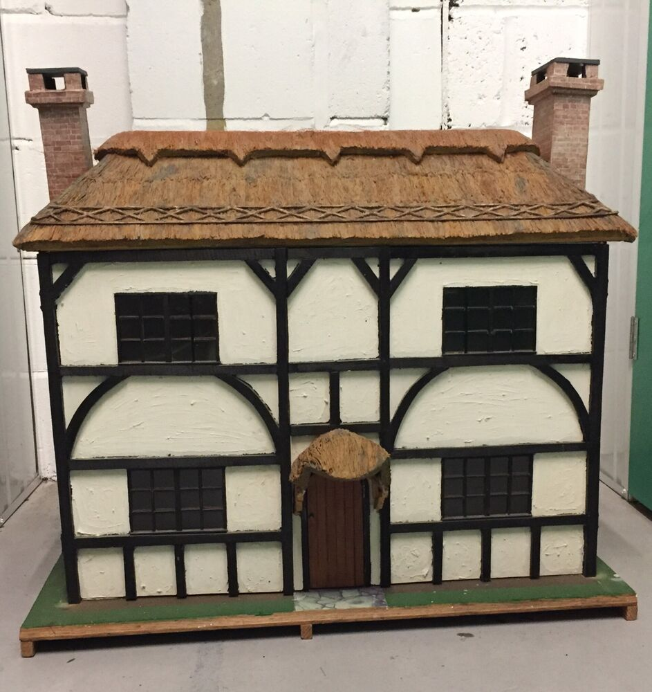Huge Handmade Tudor Doll House With Lots Furniture