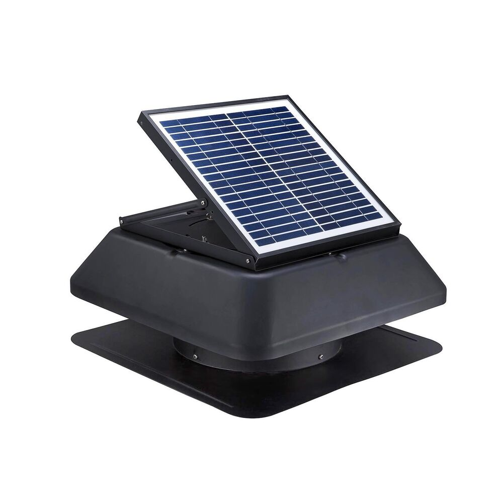 20w Solar Powered Attic Fan Roof Mount 1750 Cfm Ventilator