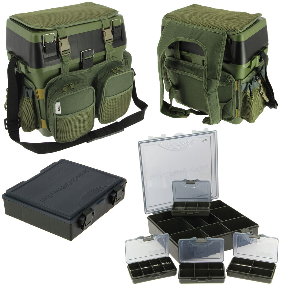 NGT CARP FISHING SEAT BOX SYSTEM, HARNESS RUCKSACK, SIDE ...