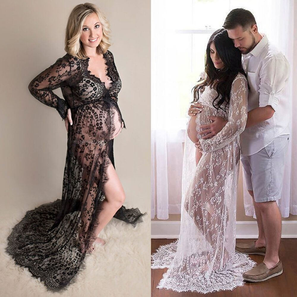 Maternity maxi gown wedding party dresses photography for Maternity dresses for wedding party