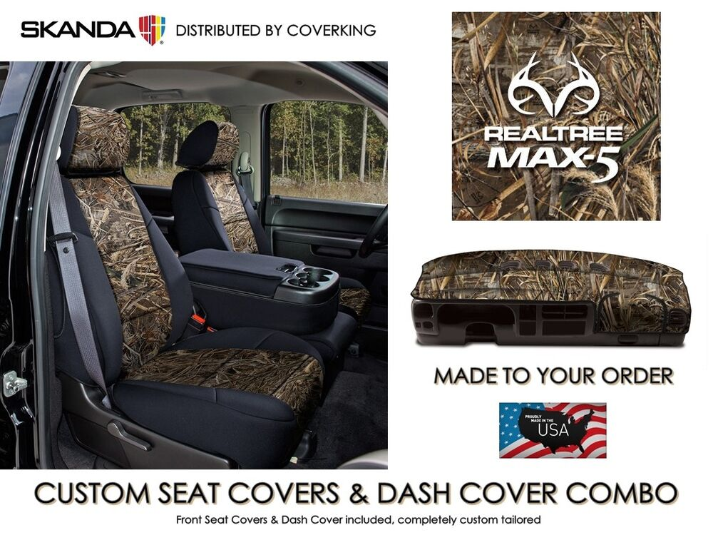 Realtree Max 5 Camo Front Custom Seat Covers Amp Dash Cover
